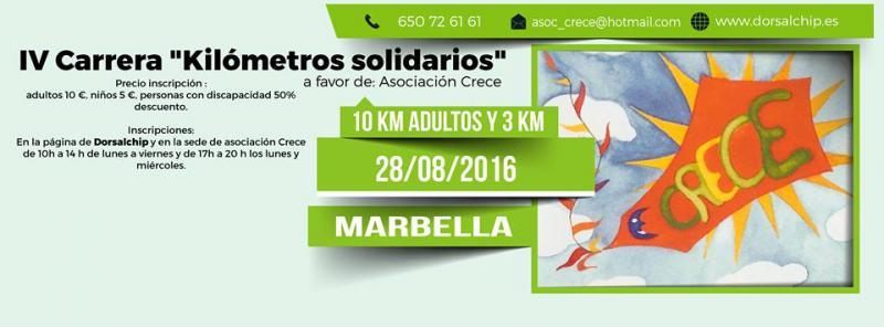 IV Carrera Kilómetros Solidarios a favor de Asociación Crece