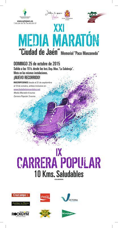 Carrera XXI Media Maratón Ciudad de Jaén Memorial Paco Manzanera