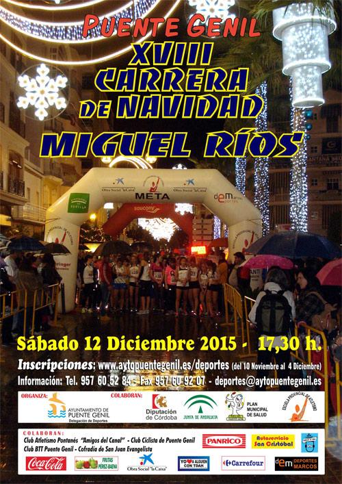 Carrera XVIII Carrera de Navidad Miguel Ríos 2015