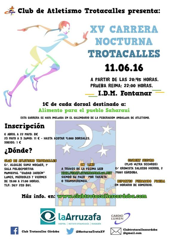 XV Carrera Nocturna Trotacalles Córdoba