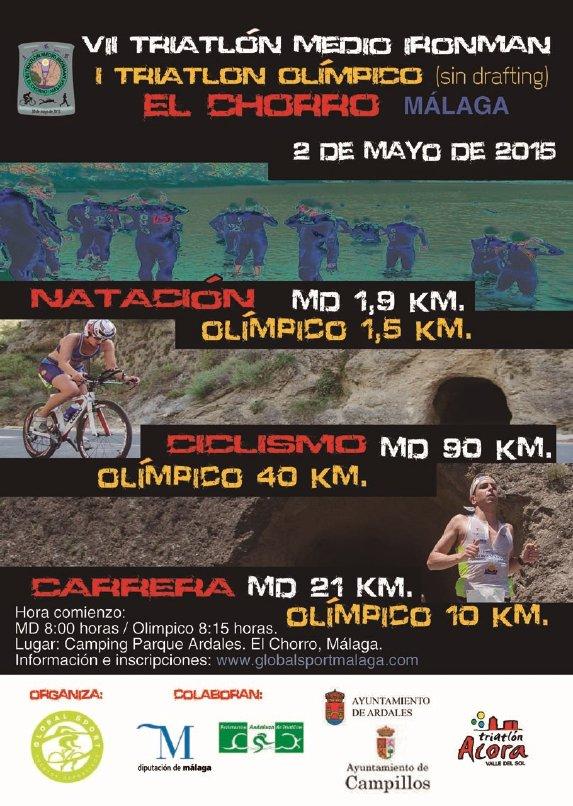 Carrera VII Triatlon Olímpico El Chorro Málaga