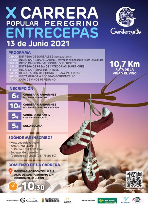 X Carrera popular Peregrino Entrecepas Bodegas Gordonzello