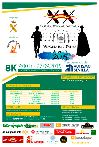 Carrera Carrera popular Solidaria Virgen del Pilar 2015