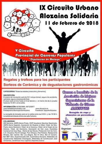 IX Carrera Popular Alozaina Solidaria 2018