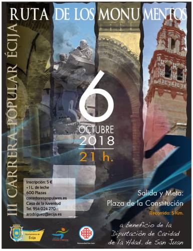 III Carrera Popular Écija Ruta de los Monumentos