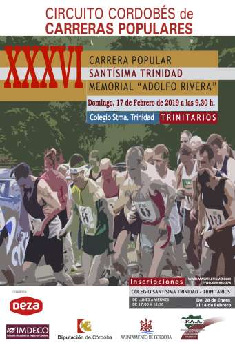 XXXVI Carrera Popular Santísima Trinidad Memorial Adolfo Rivera