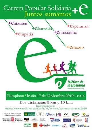 Carrera +e del Teléfono de la Esperanza de Navarra 2019