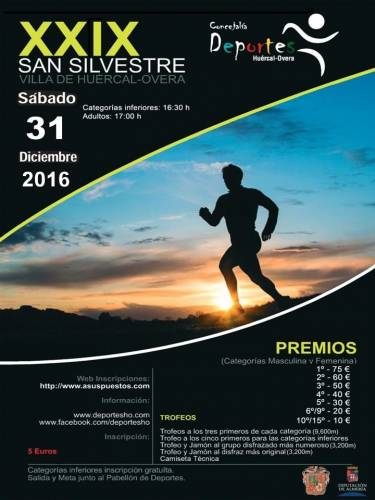 XXIX San Silvestre Villa  de   Huércal-Overa