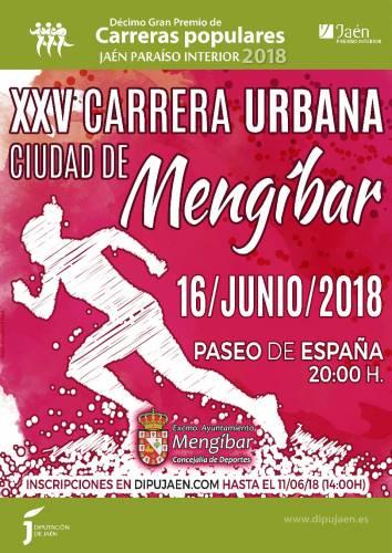 XXV Carrera urbana Ciudad de Mengibar 2018