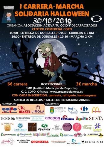 I Carrera y Marcha Solidaria Halloween zombie