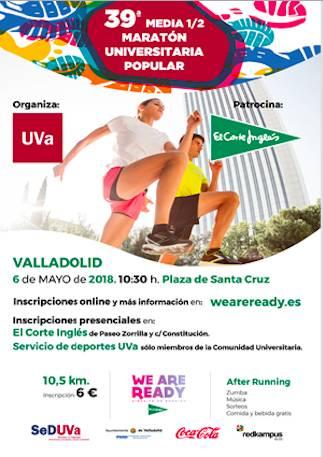 39ª Media Maratón Universitaria Popular de Valladolid