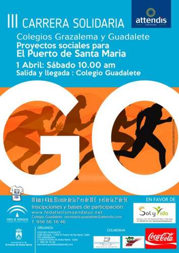 III Carrera Solidaria Colegios de Grazalema y Guadalete