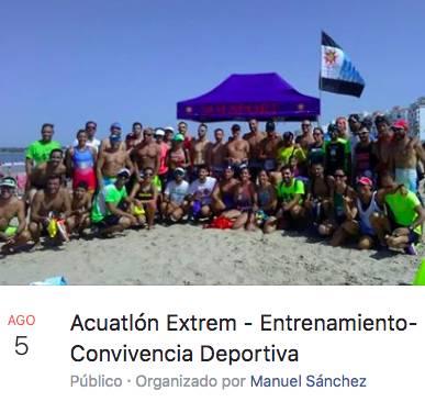 Acuatlón Extrem - Entrenamiento-Convivencia Deportiva