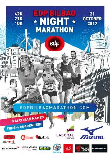 Carrera EDP Bilbao Night Media Maratón 2017
