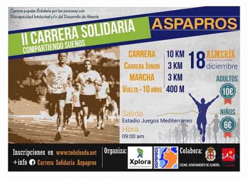 II Carrera Solidaria Compartiendo Sueños ASPAPROS