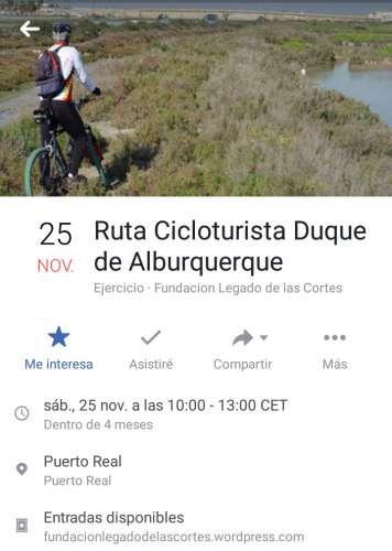 Ruta Cicloturista Duque de Alburquerque