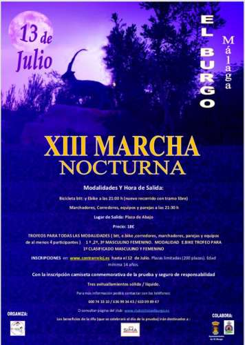 XIII Marcha Nocturna El Burgo BTT y E-Bike