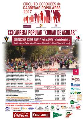 XXI Carrera Popular Ciudad de Aguilar