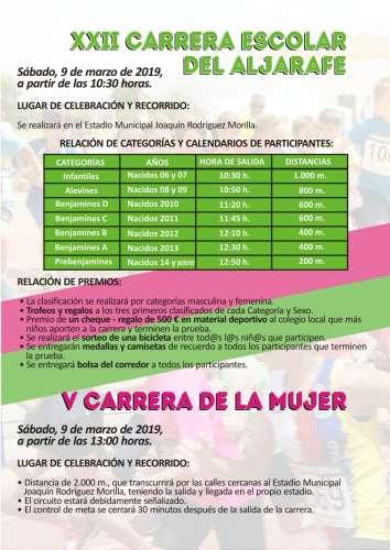 XXII Carrera Escolar de Aljarafe y V Carrera de la Mujer