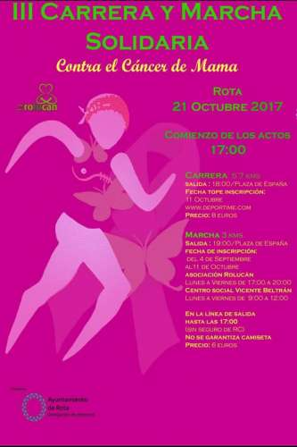 III Carrera y marcha solidaria contra el cáncer de mama