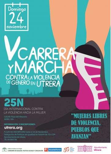 V Carrera Marcha contra la Violencia de Género en Utrera