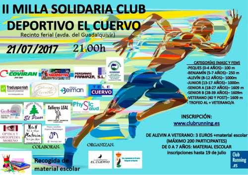 Carrera II Milla Club Deportivo El Cuervo