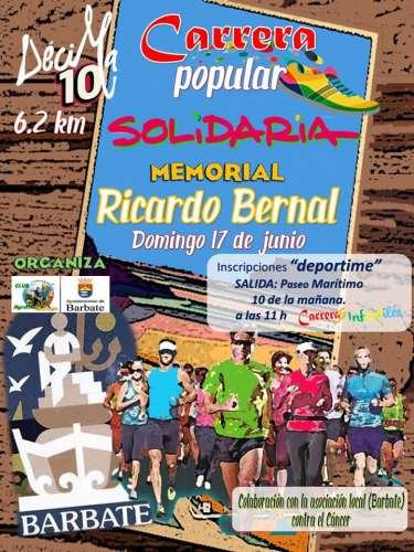 X Carrera Solidaria Villa de Barbate Memorial Ricardo Bernal