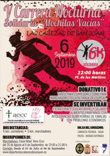 V Carrera Nocturna Solidaria Mochilas Vacías