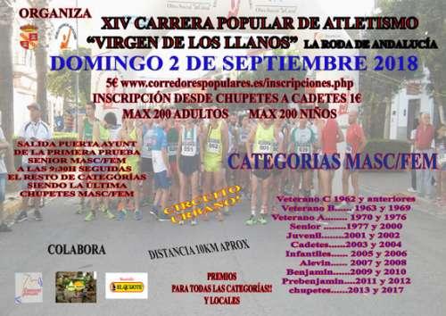 XIV Carrera Popular de Atletismo Virgen de los Llanos