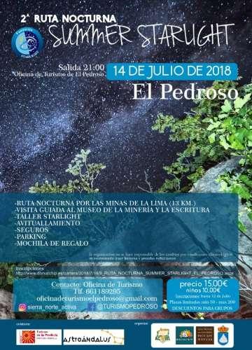 II Ruta Nocturna El Pedroso Summer Starlinght
