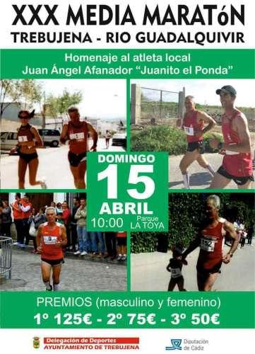 XXX Media Maratón Trebujena Río Guadalquivir