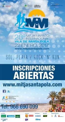 28ª Mitja  Marató Internacional Vila  de  Santa  Pola