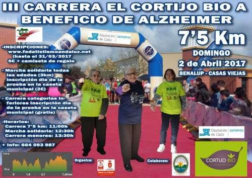 III Carrera El Cortijo Bio Benalup Casasviejas a Beneficio del Alzheimer