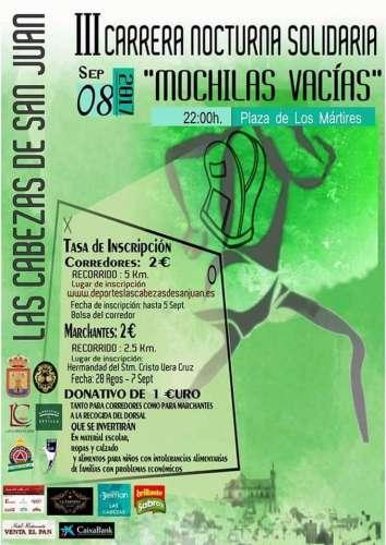 III Carrera Nocturna Solidaria Mochilas Vacías
