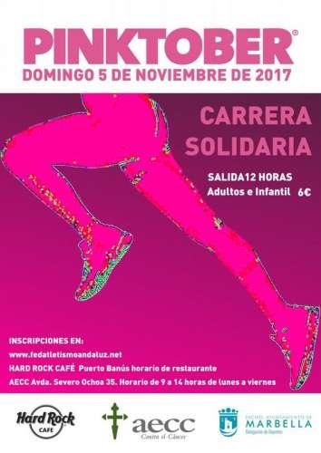 Carrera Solidaria Pinktober AECC en Marcha