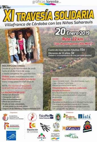 XI Travesía Solidaria Villanueva de Córdoba con los Niñis Saharauis