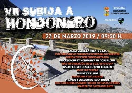 VII Subida a Hondonero