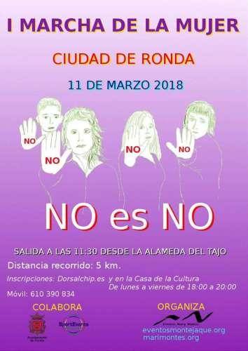 I Marcha de la Mujer Ciudad de Ronda