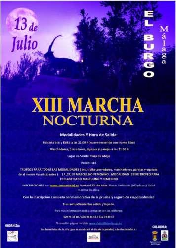 XIII Marcha Nocturna El Burgo