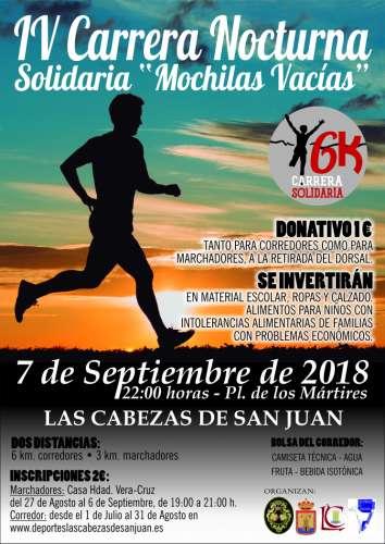 IV Carrera Nocturna Solidaria Mochilas Vacias