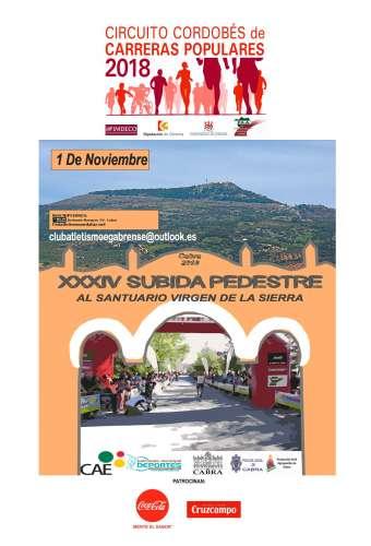 XXXIV Subida Pedestre al Santuario Virgen de la Sierra