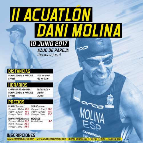 Acuathlon Dani Molina Olímpico