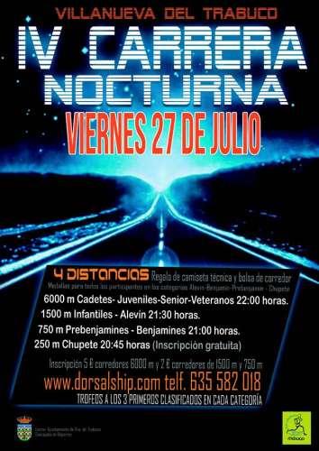 IV Carrera Nocturna Villanueva del Trabuco