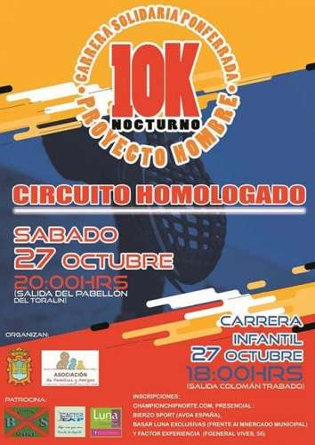 10K Solidarios Proyecto Hombre Ciudad de Ponferrada