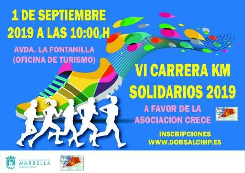 VI Carrera Kilómetros Solidarios a favor de Asociación Crece
