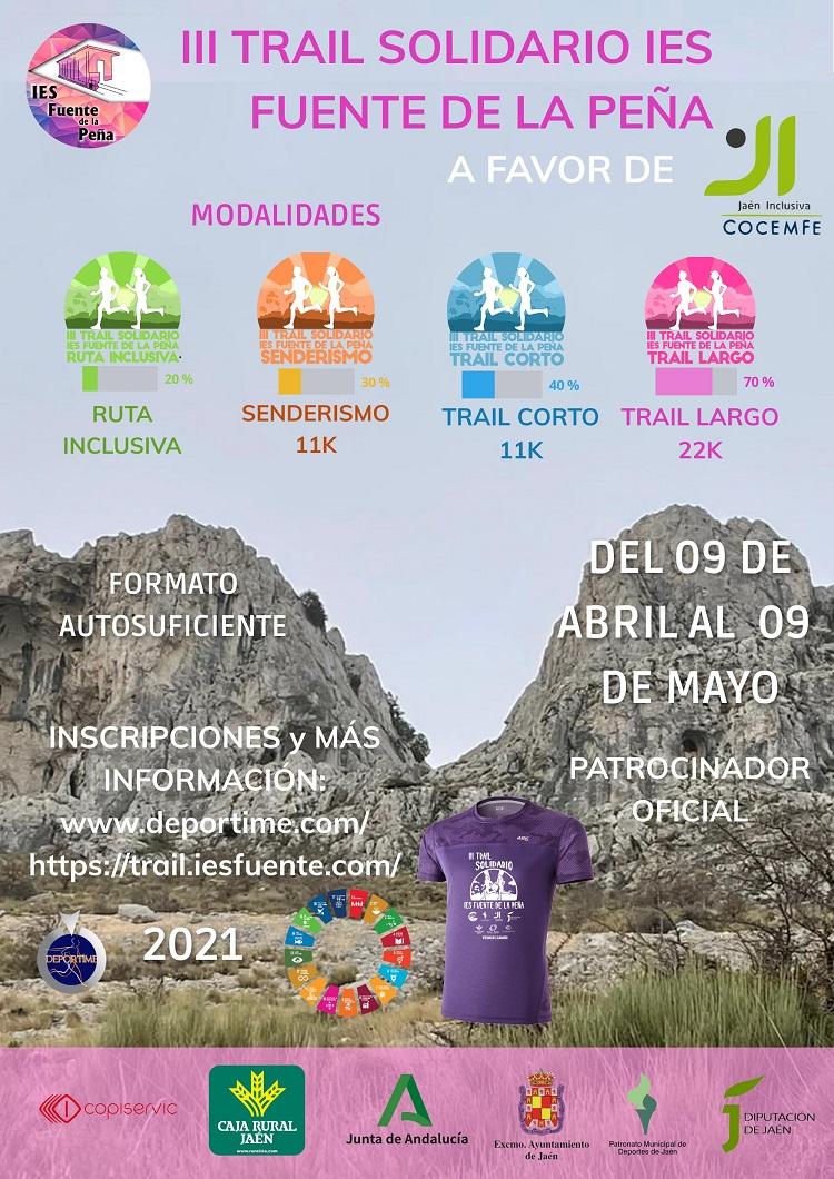 III Trail solidario a beneficio de la Federación Jaén Inclusiva