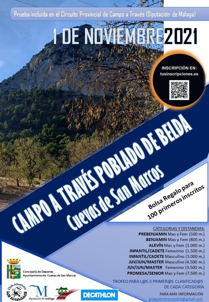 Campo a Través Poblado de Belda Cuevas de San Marcos