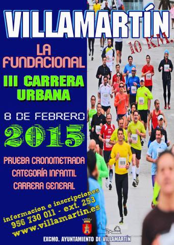Carrera III Carrera Urbana Villamartín La Fundacional