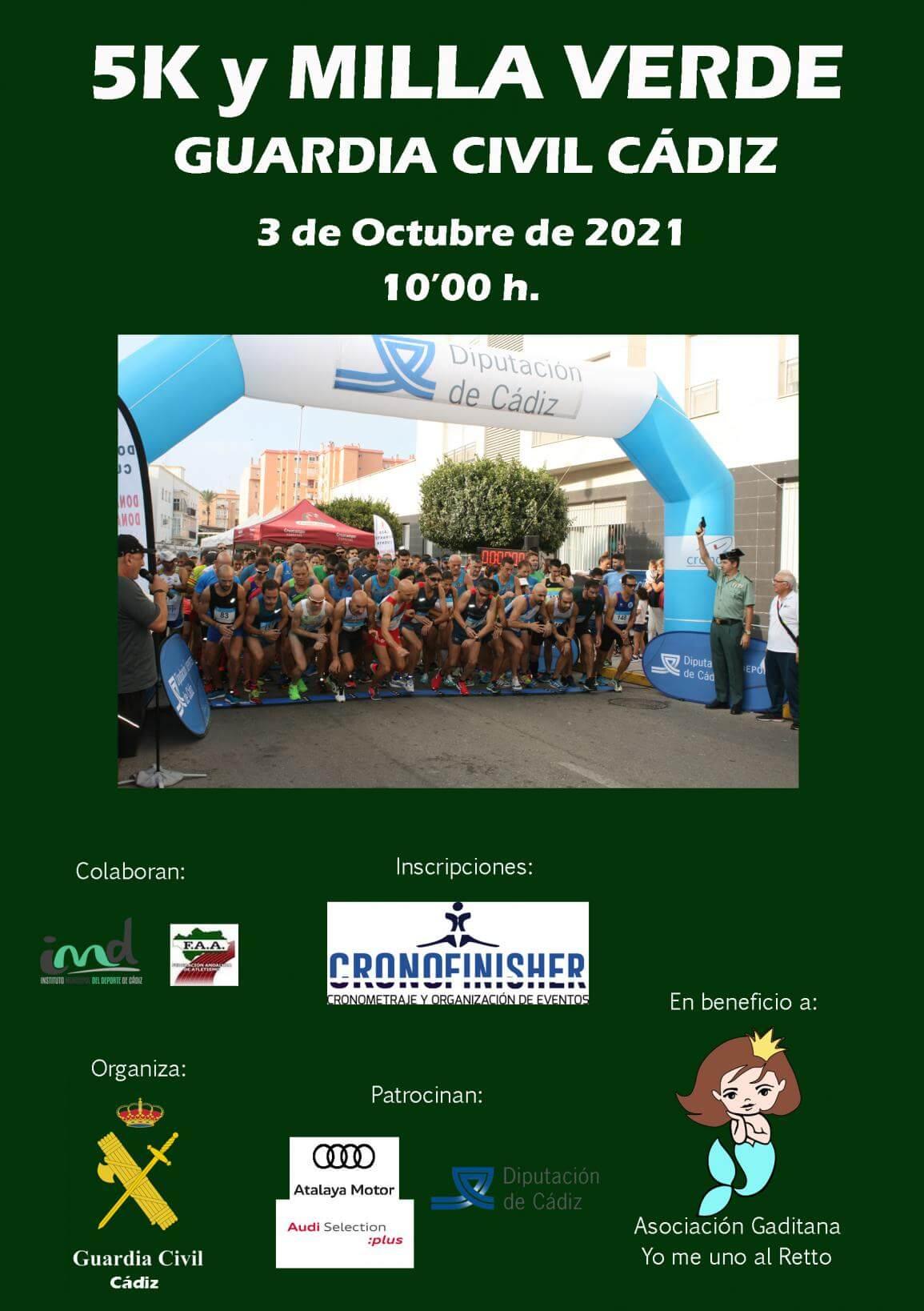 5K y VI Milla Verde Guardia Civil Ciudad de Cádiz