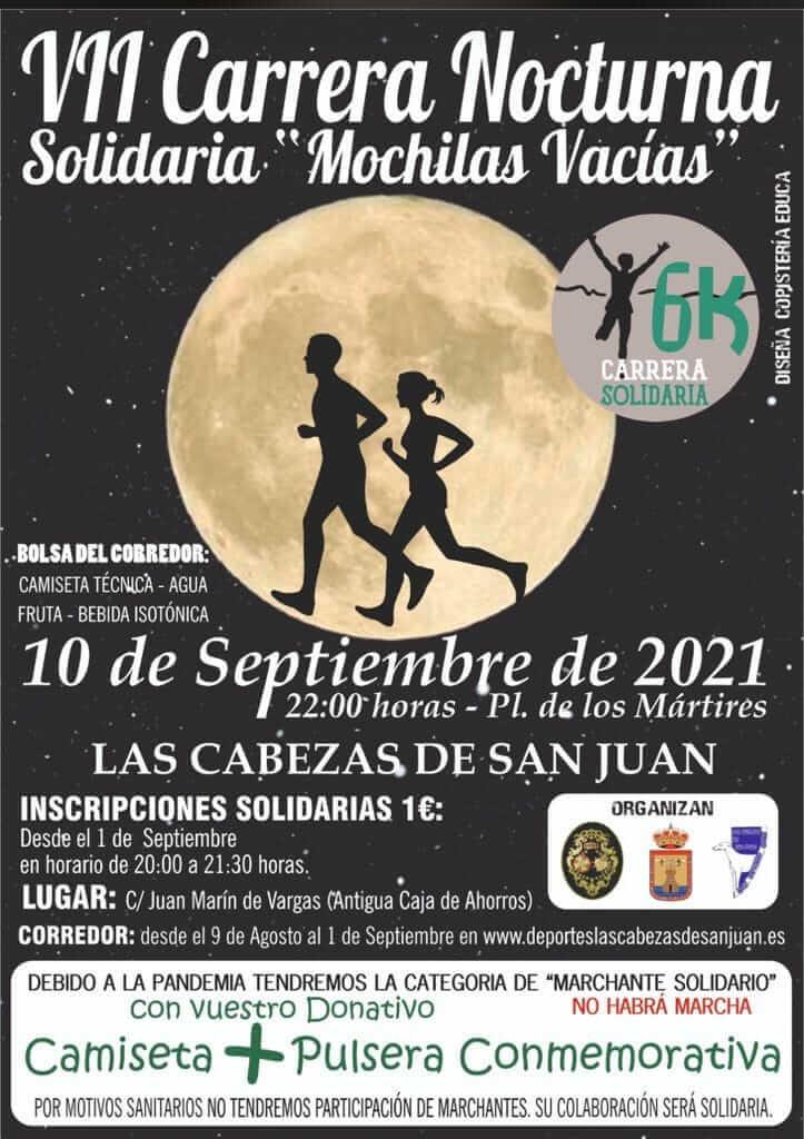 VII Carrera Nocturna Solidaria Mochilas Vacías